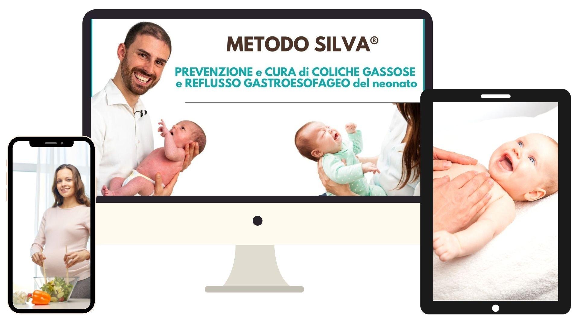 Videocoro Metodo Silva per la prevenzione e cura di coliche gassose e reflusso gastroesofageo del neonato
